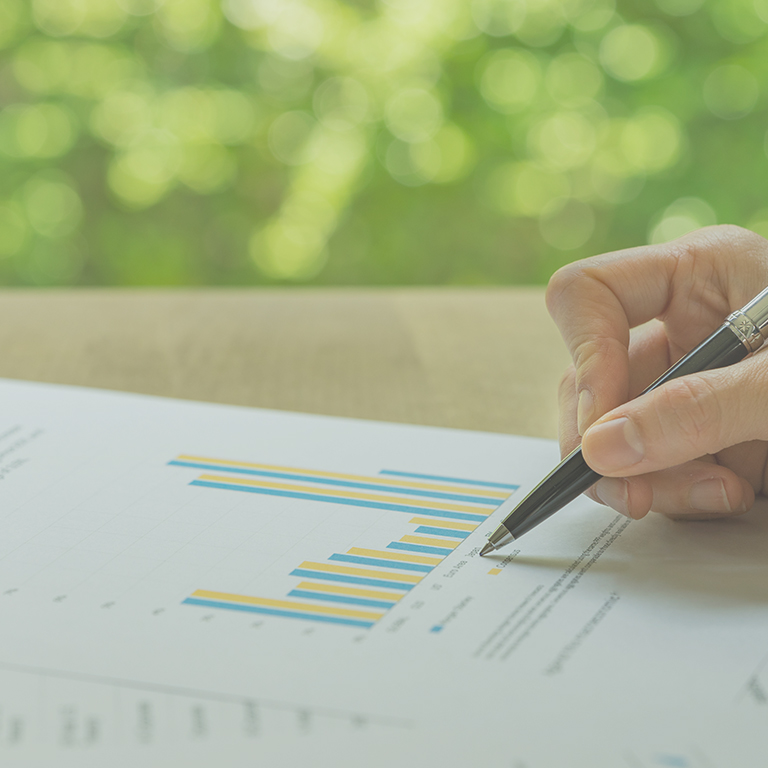 reporting growth in finances
